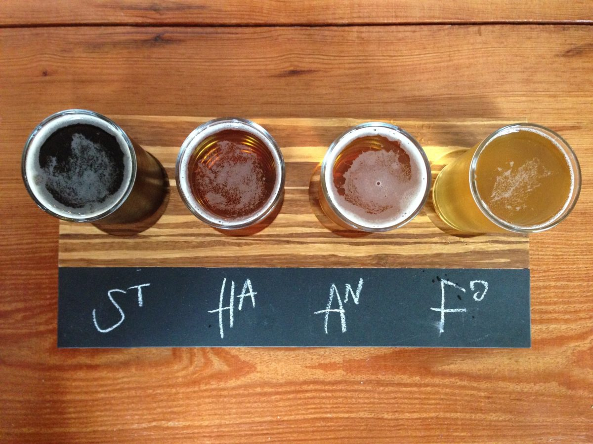 Una cata de cervezas artesanas