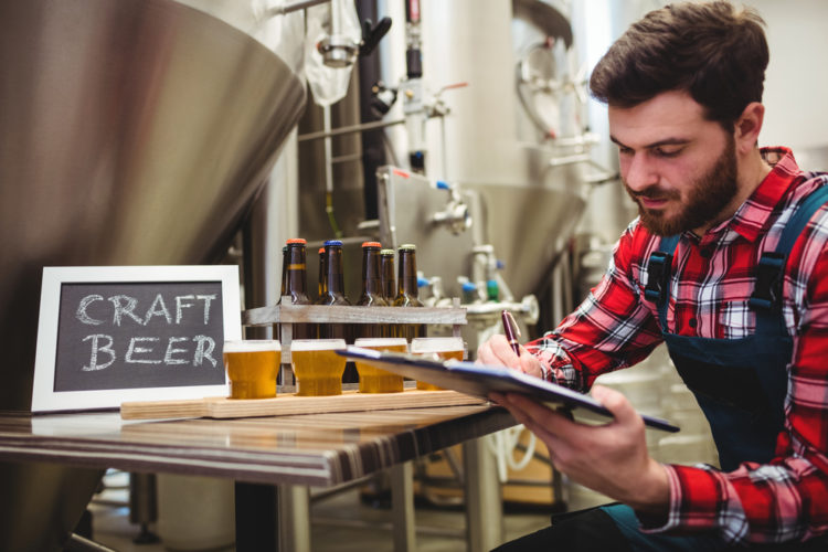 Craft Beer is made in a microbrewery